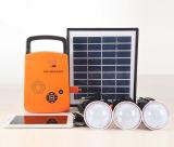 4W beweglicher Solar-PV Panel-Energien-Energie-Beleuchtung-Installationssatz