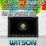 KIA Sportage Rk3188 쿼드 코어 HD 1024X600 스크린 16GB 저속한 1080P WiFi 3G 정면 DVR DVB-T 미러 링크 주사위 점 (W2-M576)를 가진 2016년 차 DVD GPS 선수를 위한 Witson S160