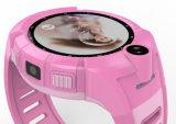 Reloj elegante Anti-Perdido SOS de Brecelet del bebé del monitor del APP de la venda de muñeca del niño de la pantalla táctil de la localización de la base de la cámara de Smartwatch W del cabrito Q610