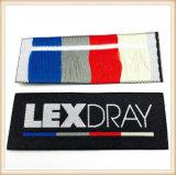 Mayorista de fabricación de prendas de vestir personalizadas Diseño de la etiqueta tejida