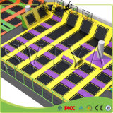 Rectangle Large Slam Dunk Dodgeball Fitness Trampoline avec Foam Pit