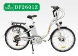 En15194 chinesisches 26inch weißes elektrisches Stadt-Fahrrad der Dame-lange Reichweite