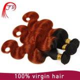 モンゴル8A等級の毛のOmberボディ波のバージンの毛