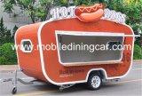 Carro/carro calientes del perrito caliente de la venta con perspectiva hermosa