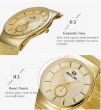 Il colore su ordinazione dell'orologio tre degli uomini della vigilanza di Belbi dell'OEM delle vigilanze del Giappone Movt di marchio occidentale sottile dell'acciaio inossidabile per sceglie