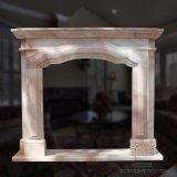 Lado do velho mundo talhado lareira de mármore Mantel