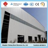 La estructura de bastidor de acero prefabricada almacén para obras de construcción