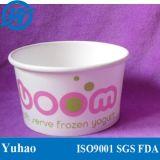 taza de papel del helado 6oz/8oz/12oz y taza del yogurt congelado