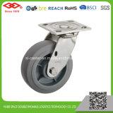roda de borracha elástica elevada de giro de 125mm (P704-34FF125X50)