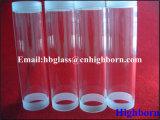 Polierschraubengewinde-fixierter Quarz-Glas-Rohrleitung-Lieferant