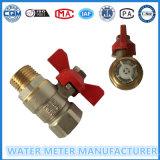 Válvulas de esfera de bronze para medidor de água de Dn15-40mm