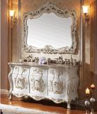 Cabina de cuarto de baño de madera sólida del espejo clásico del diseño moderno (LZ-134)