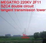 Megatro 220kv 2f11 Szc4 두 배 회로 측면 전송 탑