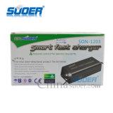 Carregador de bateria de plástico Solar 12V 3A carregador de bateria rápida com modo trifásico (SON-1203)