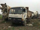 Corée du Sud 6 * 4-LHD-Drive Disponible Diesel-Engine / Gearbox Occasion 8 ~ 10cbm / 15ton Hyundai Manual Dump Truck