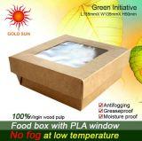 2013 les aliments de préparation rapide les plus neufs empaquetant, boîte carrée à aliments de préparation rapide avec le guichet
