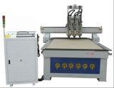 二重ヘッド、真空の吸着表の4.5kwスピンドル、木工業および広告のためのCNCのルーター機械