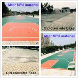 Surface fixe de terrain de basket d'enduit (JRace)