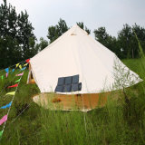 Im Freien Luxuxbaumwollsegeltuch-Familiekampierendes Tipi-Rundzelt