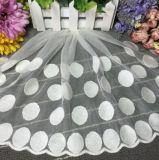 Высокое качество белый 100% хлопок Dot Design Водорастворимые ткань