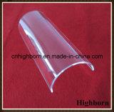 Placa Vaulted fundida polaco claro de la hoja del pedazo del vidrio de cuarzo de la silicona