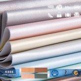 Sensação macio couro artificial, couro de PVC de Padrão Mais Recente