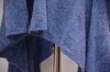 Frauen-Mohär-Romance blaue Strickwaren-Wolljacke