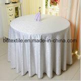 100%Polyester 자카드 직물 둥근 공상 결혼식 테이블 피복