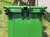 바퀴를 가진 플라스틱 쓰레기통 또는 폐기물 궤