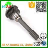 Maquinado CNC de precisión personalizado Carretilla de acero del eje de entrada de transmisión de engranaje impulsor principal para automoción con certificación TS16949