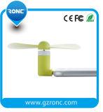 TPU Matériel vert Mini ventilateur en stock pour téléphones portables