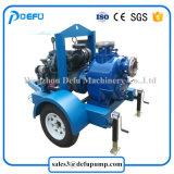 Pomp van de Riolering van de Instructie van de Dieselmotor van de Overdracht van de modder de Zelf met Twee Aanhangwagens van Wielen