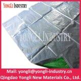 Tela incatramata d'argento verde del bene durevole 2mx4m di alta qualità poli