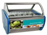 スーパーマーケット、フリーザーのアイスクリームのためのアイスクリームの表示フリーザー