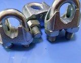 Зажим веревочки провода DIN741 томительноего-тягуч утюга Galv стальной