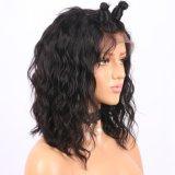 Корпус Corising волны 150% плотность кружева передней человеческого волоса парики