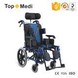 Cadeira de rodas de pouco peso Foldable de reclinação Disabled traseira elevada para crianças da paralisia