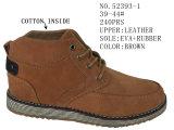 Размер 39-44# мужчин зимней обуви хлопок ботинки кожаный верх