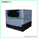 Faltbare Hochleistungsjungfrau-Plastikspeicher-Fisch-Ladeplatten-Masse-Sortierfach