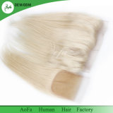 Белокурый цвет 613# прямо с волосами бразильянина девственницы закрытия сырцовыми
