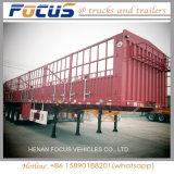 De China del fabricante de la cerca de cargo del transporte de la estaca acoplado superior semi
