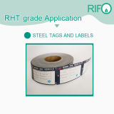 Libellé de température élevée de matériel, des étiquettes d'acier résistant aux produits chimiques