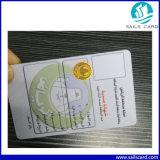 Carte d'identification d'adhésion de l'hologramme VIP de PVC 3D de plastique pour l'Anti-Article truqué