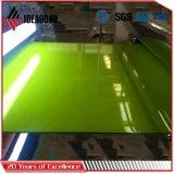 El panel compuesto de aluminio del poliester (AE-35E verdes claros)