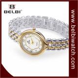 Reloj impermeable del reloj de Belbi de alta manera del reloj de las mujeres de la manera del ocio de la superficie oval de acero del ciruelo