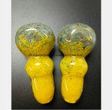 3.35 Zoll-gelbes Rauch-Rohr-Filter-Öl-Glaswasser-Rohr