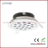 Blanco/Plata 25W LED Downlight Receesed COB