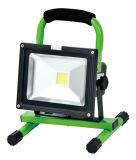 Luz de inundación portable recargable de la luz de inundación del LED LED