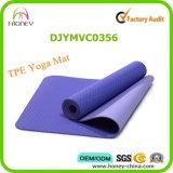 Цветастая напечатанная циновка йоги тренировки TPE, циновка спортов