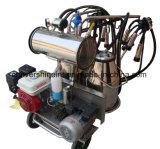 Motor AC de gasolina e a bomba de vácuo Double-Buckets Vaca em máquina de ordenha
